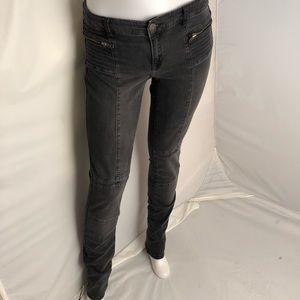 IKKS Denim slim fit gray/black zipper jeans